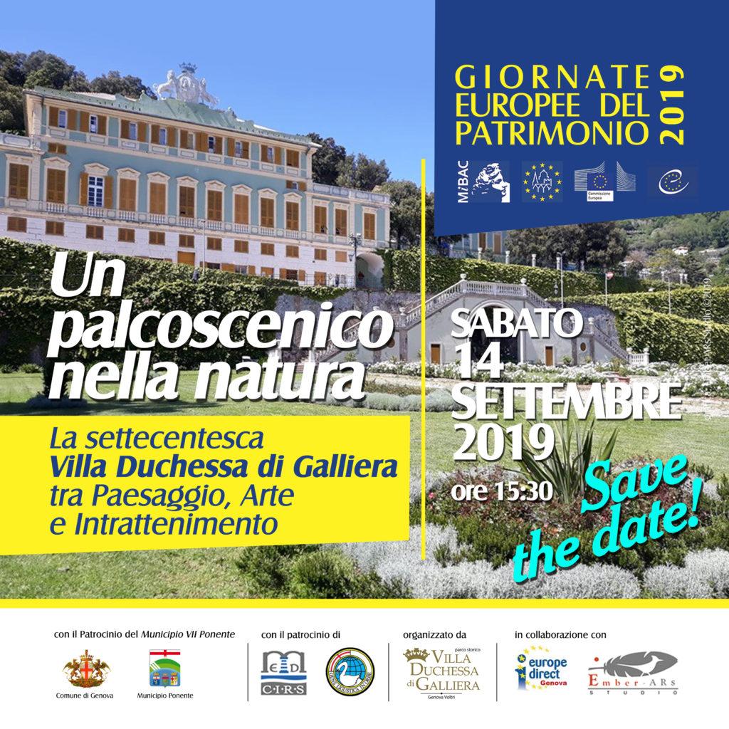 Percorso delle Giornate europee del patrimonio 2019, tappe a Voltri