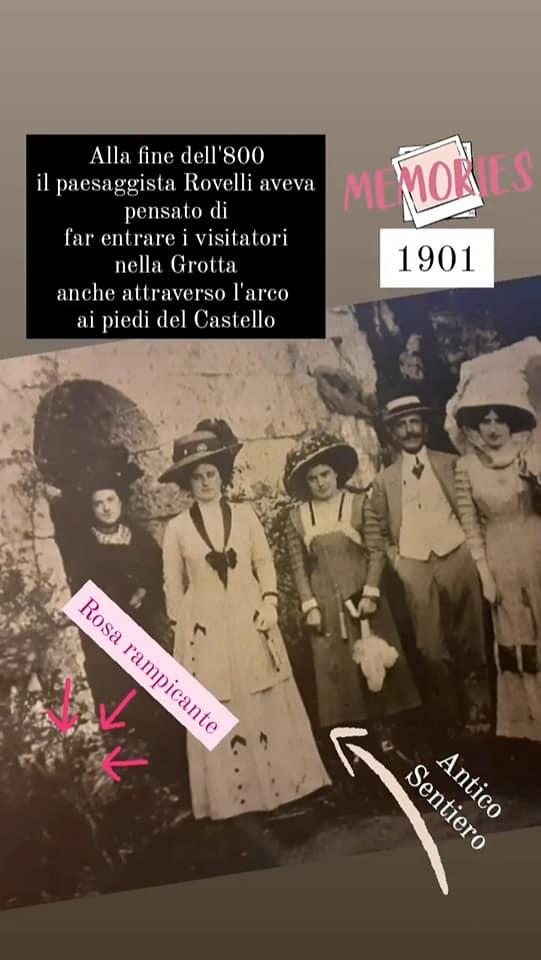 Foto storica accesso alle grotte del castello